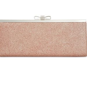 INC Blush Glitter Clutch NWT